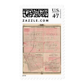 Plans of Oskaloosa, Eddyville and Albia City Postage