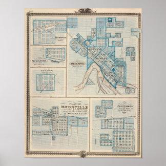Plans of Ottumwa, Russell, Scranton Poster