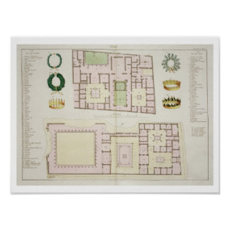 Plans of the House of the Questor and the House of Poster