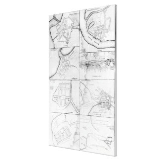 Plans of the principle Towers, Forts Canvas Print