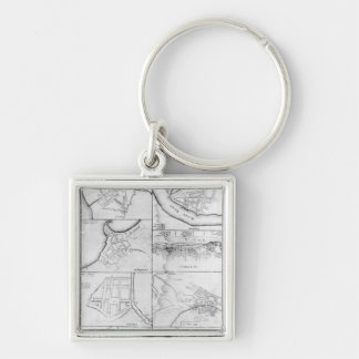 Plans of the principle Towers, Forts Keychains
