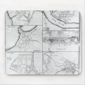 Plans of the principle Towers, Forts Mouse Pad