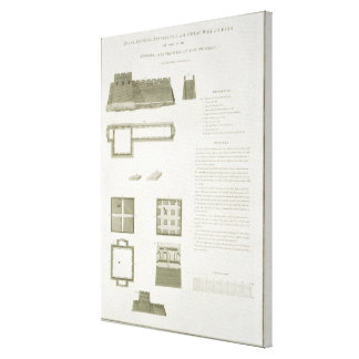 Plans, Sections and Elevations of the Great Wall o Canvas Print