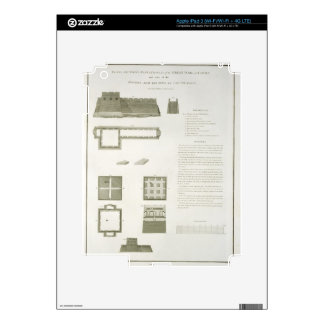 Plans, Sections and Elevations of the Great Wall o iPad 3 Decal