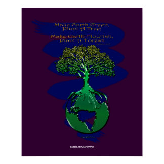 PLANT A FOREST Art Poster & Poem