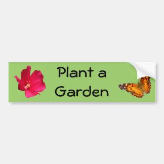 Plant a Garden ~ b sticker Bumper Sticker
