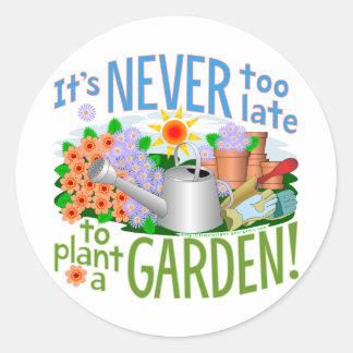 Plant a Garden Classic Round Sticker