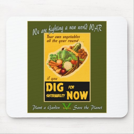 Plant a Garden Save the Planet Mouse Pad