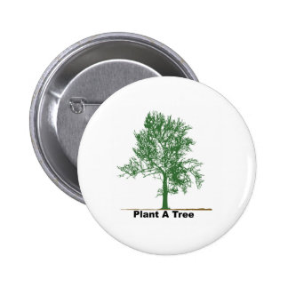 plant a tree 2 inch round button