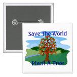 Plant A Tree 2 Inch Square Button