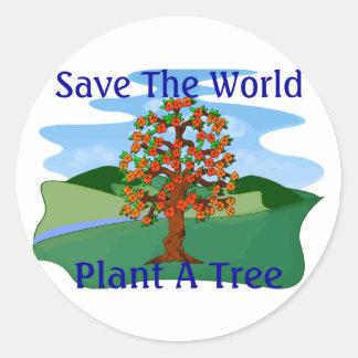 Plant A Tree Classic Round Sticker