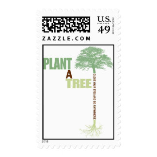 Plant A Tree close your eyes and be anywhere Postage Stamps