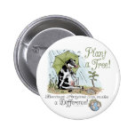 Plant a Tree Earth Day Cow Gear Button