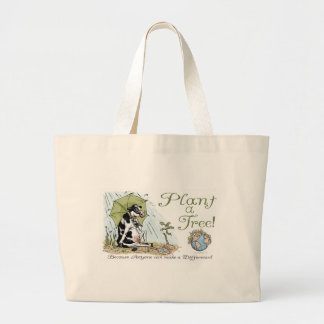 Plant a Tree Earth Day Cow Gear Canvas Bag