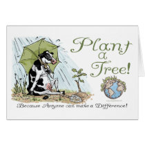 Plant a Tree Earth Day Cow Gear Card