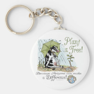 Plant a Tree Earth Day Cow Gear Key Chains
