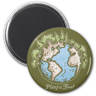 Plant a Tree Earth Day Gear 2 Inch Round Magnet