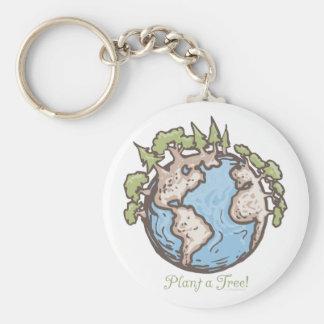 Plant a Tree Earth Day Gear Keychain