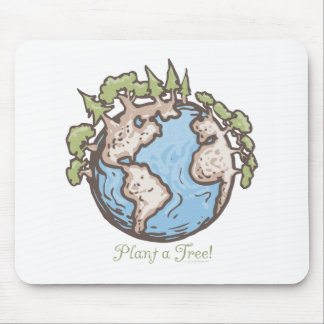 Plant a Tree Earth Day Gear Mouse Mat