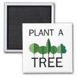 Plant a Tree! Ecology designs! 2 Inch Square Magnet