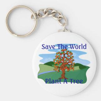 Plant A Tree Key Chain