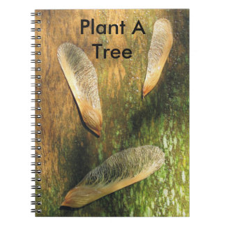 Plant A Tree Maple Helicopters Notebook