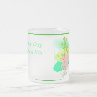 Plant A Tree - Frosted Glass Mug