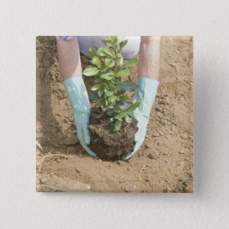 Plant a Tree on Earth Day Button