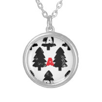 Plant A tree Pattern Silver Plated Necklace
