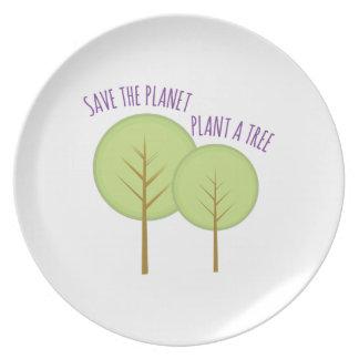 Plant A Tree Dinner Plates