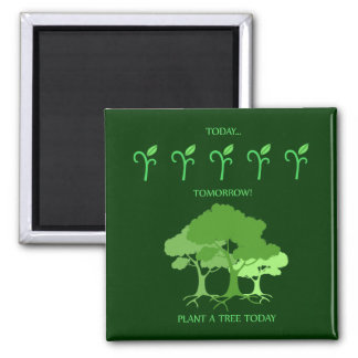 Plant a tree today magnet