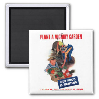 Plant a Victory Garden 2 Inch Square Magnet