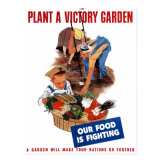 """Plant A Victory Garden"" Postcard"