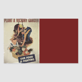 Plant a Victory Garden Rectangular Sticker