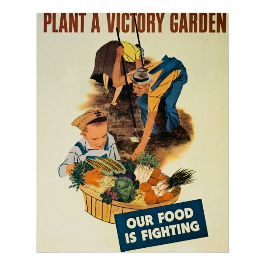 Plant a Victory Garden - Vintage WW2 Poster