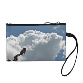 Plant Against sky with white clouds Change Purse