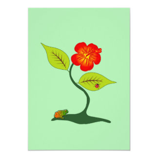 Plant and flower card