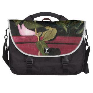 Plant at Night Laptop Messenger Bag