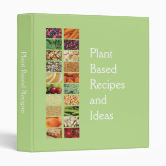 Plant Based Diet Recipes Binder