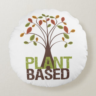 Plant Based Fall Tree Round Pillow