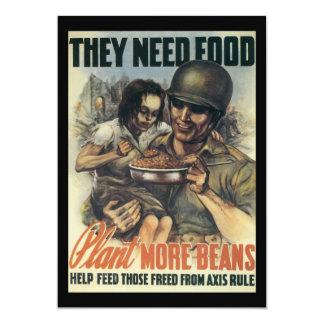 Plant Beans World War 2 Card