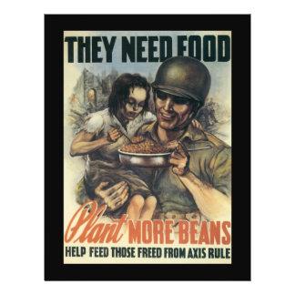 Plant Beans World War 2 Flyer