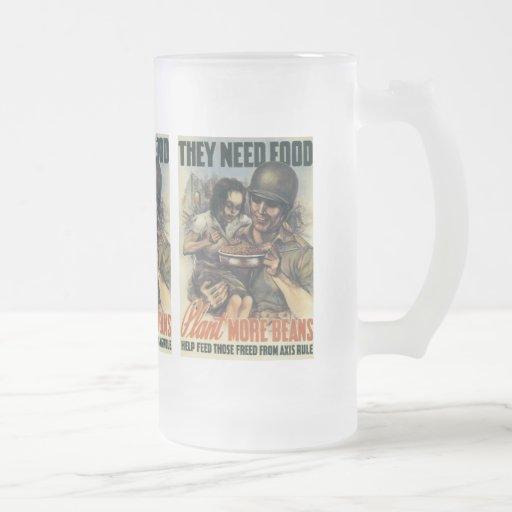 Plant Beans World War 2 Coffee Mug