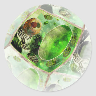 plant cell classic round sticker