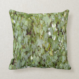 Plant covering stone wall throw pillow
