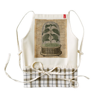 Plant Dictionary Art Nature Flowers Vintage Art Zazzle HEART Apron