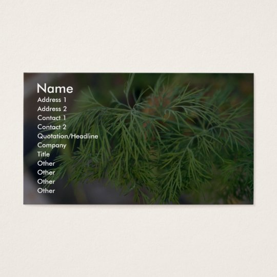 Plant Dill Business Card