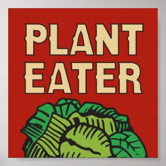 Plant Eater retro design vegetarian vegan Poster