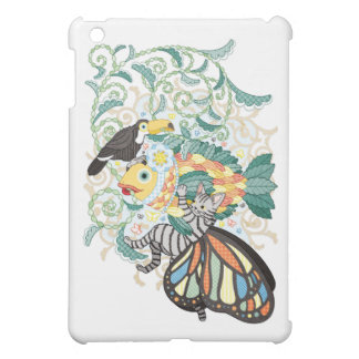 Plant fish and Butterfly cat and Toco toucan iPad Mini Cases