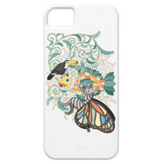 Plant fish and Butterfly cat and Toco toucan iPhone SE/5/5s Case